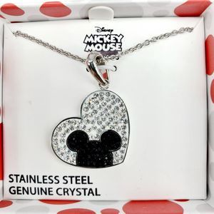 NWT Disney Mickey Mouse Heart Pendant & Necklace